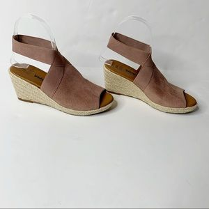 Sonoma Mauve Wedge Slingback Sandal Size 6M
